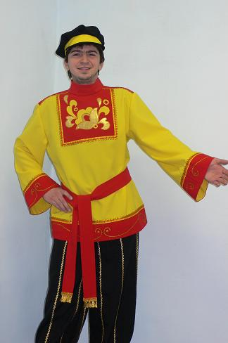 русский народный северный мужской костюм.