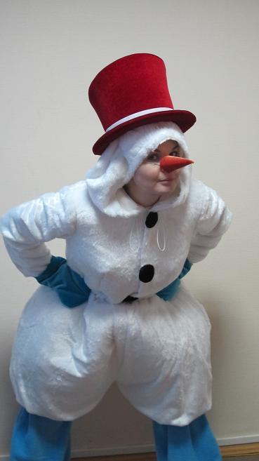 Костюм снеговика своими руками из синтепона