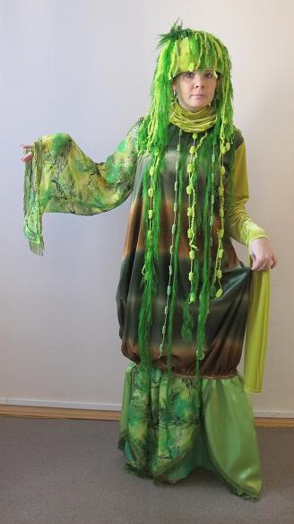 128Для девочки костюм кикиморы своими руками